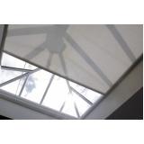 persiana teto de vidro